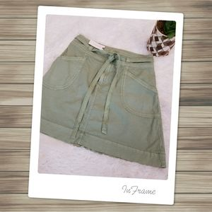 Pilcro and the Letterpress Sage Chino Skirt